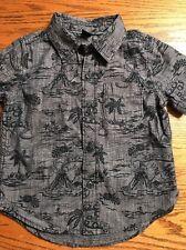 Baby Gap Toddler Boys Size 18-24 Months Hawaiian Print Short Slv Shirt EUC