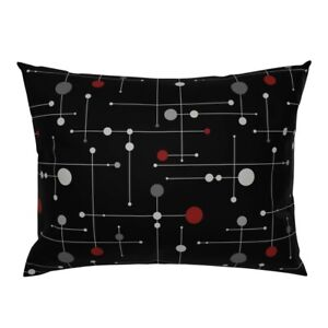 Space Age Mid Century Abstract Op Art Pop Dot Atomic Age Pillow Sham by Roostery