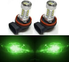 LED 80W H11 Green Two Bulbs Fog Light Replacement Plug Play Show Use Lamp