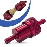 Universal Kraftstofffilter 7mm Aluminium Benzinfilter KFZ Auto Motorrad Rot