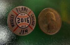 Pearl Jam Wrigley Field Collectible Button Pin Concert Memorabilia