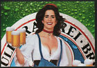 1990 ST. PAULI GIRL Beer - Sexy Busty Woman - 3 Foldout Pages Intact VINTAGE AD
