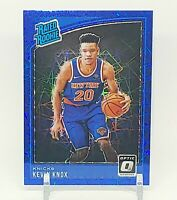 2018-19 Donruss Optic Kevin Knox #190 Rated Rookie Blue Velocity Prizm Knicks RC