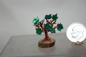 Miniature Dollhouse Alice Zinn Foil  Art Tree on Log Figurine Decoration 1:12 NR