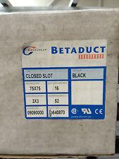 Betaduct 75 x 75mm Closed Black Slot 2m Length (8 lengths per box) - 09090000