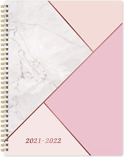 2021 2022 18 Monthly Daily Planner Twin Wire Binding Pink Organizer Calendar