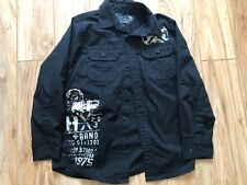 Helix Brand Boys Button Down Shirt Size S Long Sleeve Black Color FrontPockets