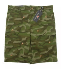 $59 Vineyard Vines Camo Embroidered Boy's Size 14 Dog Stretch Breaker Shorts NWT