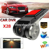 X28 FHD 1080P 150° Dash Cam Car DVR Camera Recorder WiFi ADAS G-sensor 1G DDR