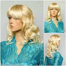 High Quality synthetic wigs long wave hair women wig blonde mixed Kanekalon wig