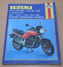Suzuki GSX GS 1000 1150 Haynes Workshop Manual 1979-1988 Reparaturanleitung