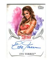WWE Eve Torres 2015 Topps Undisputed Divas Authentic On Card Autograph FD