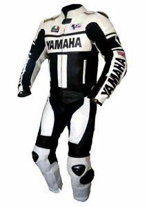 Yamaha 2PC Motorcycle Leather Suit Motorbike Racing suit CE Approved Protection