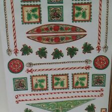 Christmas Elements Corners Green/Red Holly SCRAPBOOKING Stickers by Autumn Leave