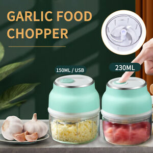 Wireless Mini Electric Food Chopper Vegetable Fruit Garlic Press Processor