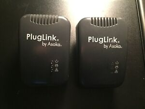 2 Asoka PlugLink 9650 Ethernet Adapters for home networking
