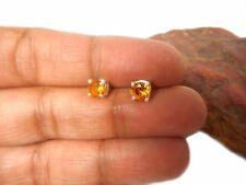 Round  CITRINE  Sterling  Silver   925  Gemstone  Earrings / STUDS  -  5 mm