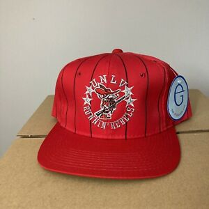 Vintage NWT UNLV Snapback Hat Cap Runnin Rebels Pinstripe Sports Specialties