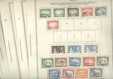 ADEN, Excellent assortment of Stamps hinged on Minkus pages
