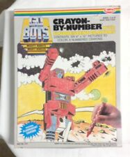 """Vintage 1980's """"Go-Bots"""" Crayon-by-Numbers Set Sealed not transformers but G1"""