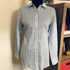 Rock Flower Paper Button Down Gia Top sz S