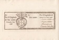 1746-ITALIA 100 LIRE BANCONOTA-PICK ref: S101r-Ministro delle Finanze Torino.