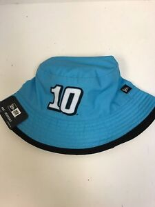 NASCAR YOUTH Hat Nature's Bakery #10 Teal/White Reversible Bucket Style
