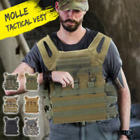 Tactical Vest Military Airsoft Molle Combat Army Plate Carrier Adjustable Jacket