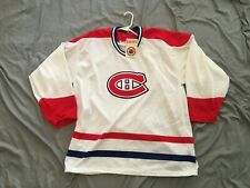 Vintage CCM NHL Montreal Canadiens hockey jersey size XL NWT white