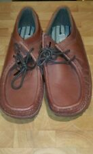 Boys tan leather  shoes size 4 Brand New
