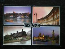 POSTCARD SOCIAL HISTORY VARIOUS VIEWS OF ENGLAND - WINDSOR CASTLE - BATH - STRAT