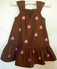 Girls Toddler Brown Sleeveless Summer Dress Blue Beri Boulevard Size 24 mths