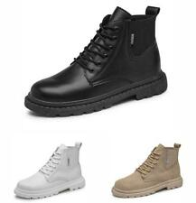 Mens Lace up Pumps Comfort Faux Leather High Top Biker Work Ankle Boots Shoes D