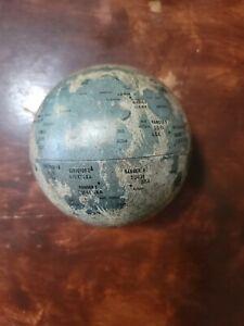 """VTG 1963 Moon Globe 6"""" Lunar Landings Replogle Globes inc"""