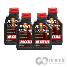 4 LT Motul 8100 Eco-Clean 0W30 Olio Motore 100% Sintetico ACEA C2 API SN