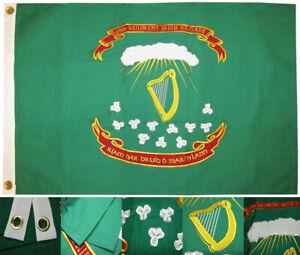 2x3 Embroidered 69th Regiment Irish Brigade 2'x3' 100% Cotton Flag Grommets