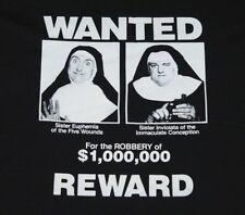 M/L * Nos vtg 90s 1990 Nuns On The Run movie t shirt * medium large * 67.119