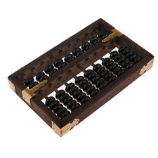 Vintage-Style Chinese Wooden Abacus, Chinese Lucky Calculator - Black