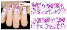 Nail Art de transferencia de agua Pegatina Adhesivos Decorativos Mariposas calcomanías (DX1500)