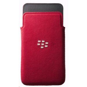 BlackBerry Custodia Cover originale a fondina in Microfibra Rossa per Z10 Nuova