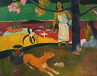 Home Decor Print on Canvas HQ Giclee Pastor Tahitian Life Paul Gauguin Art Small