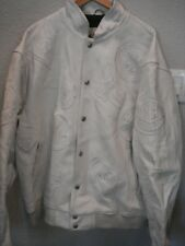 JEFF HAMILTON RARE EDITION NBA WESTERN CONFERENCE 3XL WHITE  ALL LEATHER JACKET