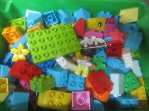40 LEGO DUPLO STEINE BAUSTEINE SONDERSTEINE KIND PLATTE MOTIVSTEINE STARTER NEU