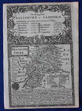 Original antique county map, ENGLAND, GLOUCESTERSHIRE, Emanuel Bowen, c.1724