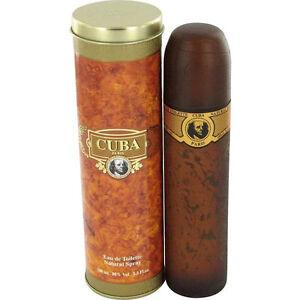 CUBA GOLD * Fragluxe * Cologne for Men * 3.3 / 3.4 oz 100ml * BRAND NEW IN BOX