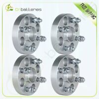 """(4) 1"""" Thick Hubcentric Wheel Spacers 4x100 12x1.5 Studs For Toyota Mazda Scion"""