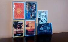 Lot 5 Vintage Playing Cards - 4 Plastic Boxes 3 Sealed with Dice