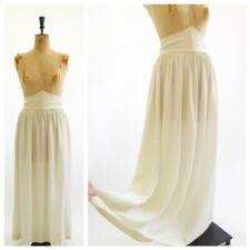Original Vintage Antique Edwardian Victorian 1900s 1910s White Silk Lawn Skirt