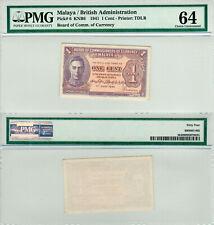 Malaya / British Administration 1 Cent P#6 (1941) TDLR PMG 64