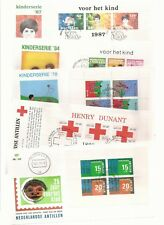 NETHERLANDS ANTILLES- 27 covers, all unaddressed + semi-postals 1973-1987